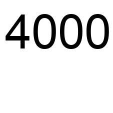 4000 número la enciclopedia de los números