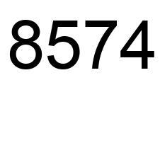 8574 (número), la enciclopedia de los números