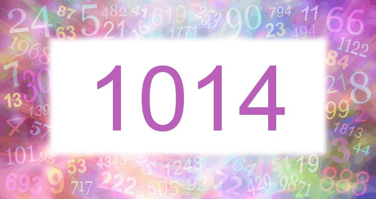 Sueño con el número 1014 imagen lila