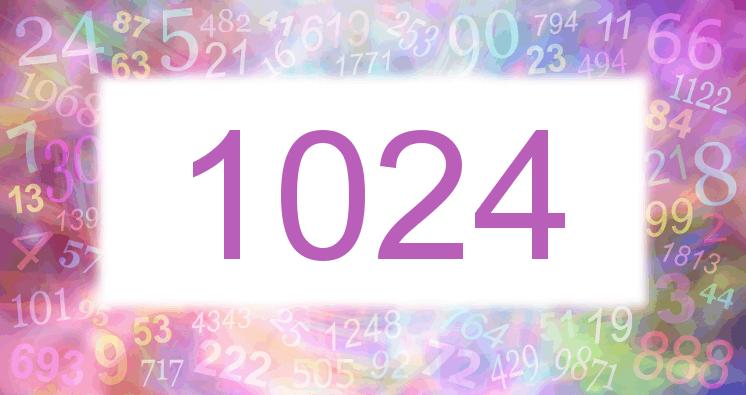 Sueño con el número 1024 imagen lila