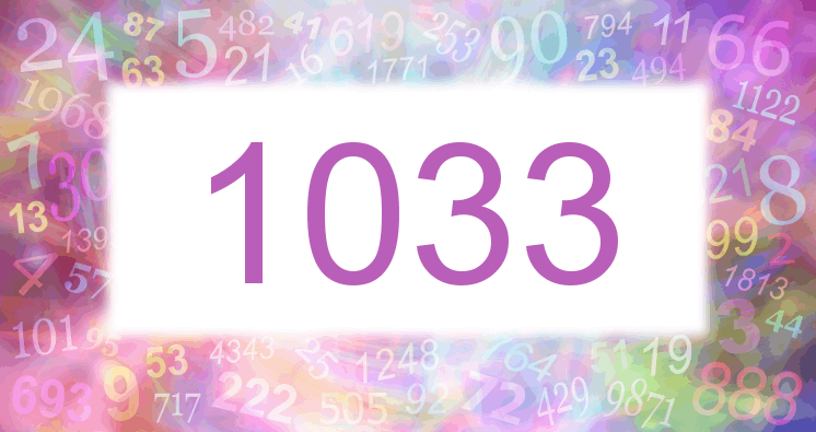 Sueño con el número 1033 imagen lila