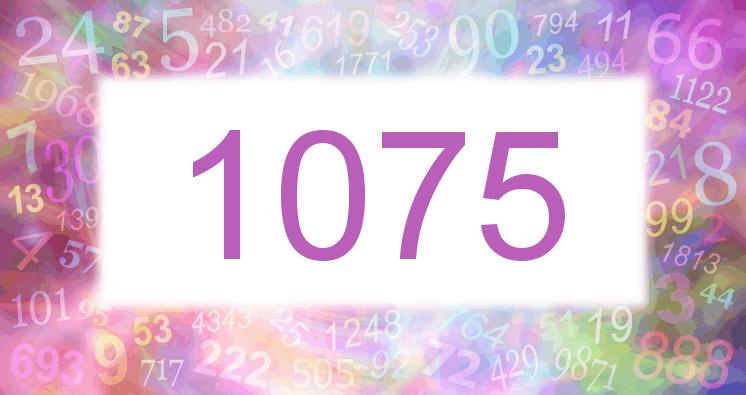 Sueño con el número 1075 imagen lila