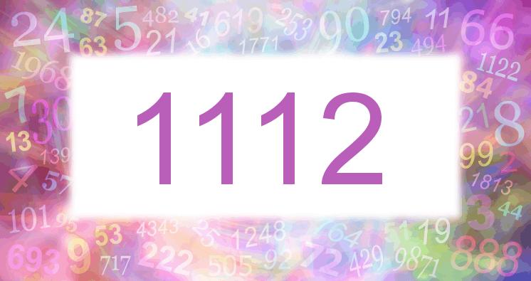 Sueño con el número 1112 imagen lila