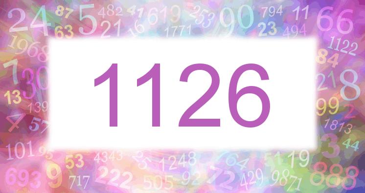 Sueño con el número 1126 imagen lila