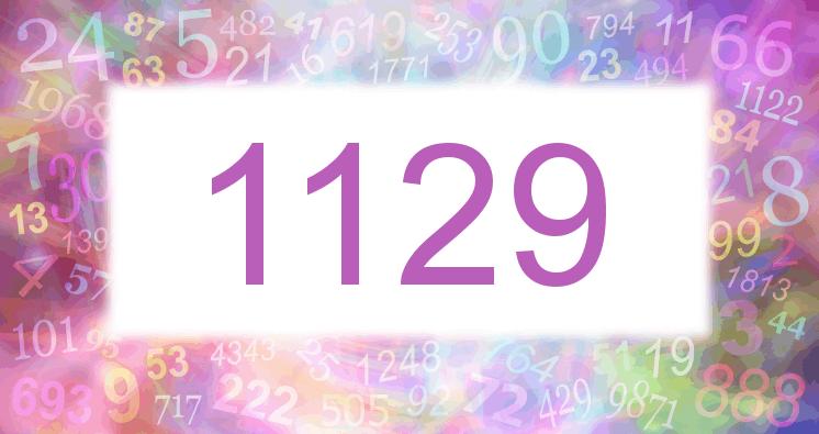 Sueño con el número 1129 imagen lila