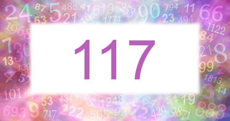 Sueño con el número 117 imagen lila