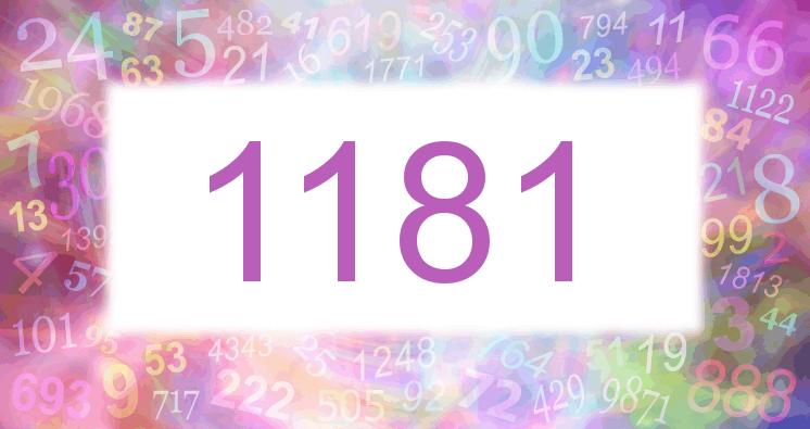 Sueño con el número 1181 imagen lila
