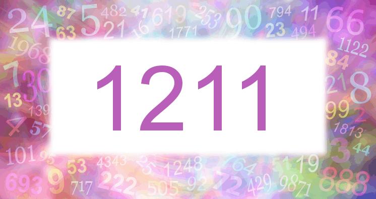 Sueño con el número 1211 imagen lila