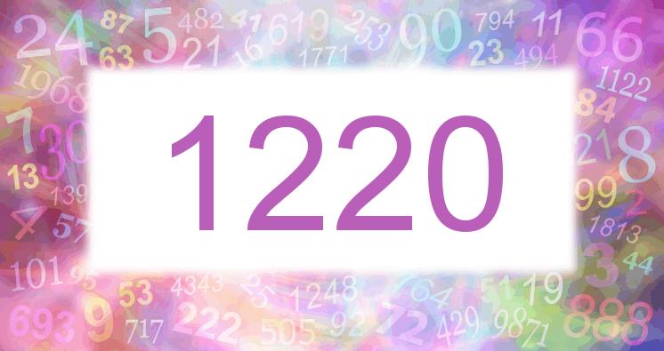Sueño con el número 1220 imagen lila