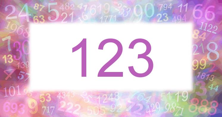 Sueño con el número 123 imagen lila