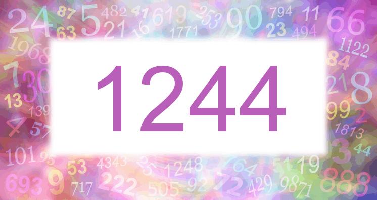 Sueño con el número 1244 imagen lila