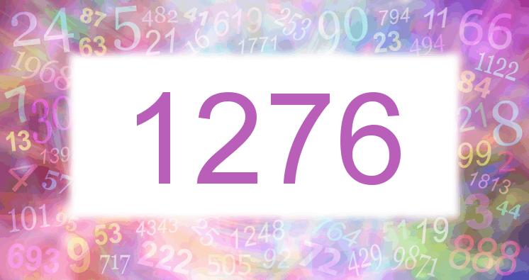 Sueño con el número 1276 imagen lila