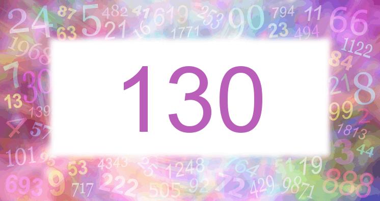 Sueño con el número 130 imagen lila