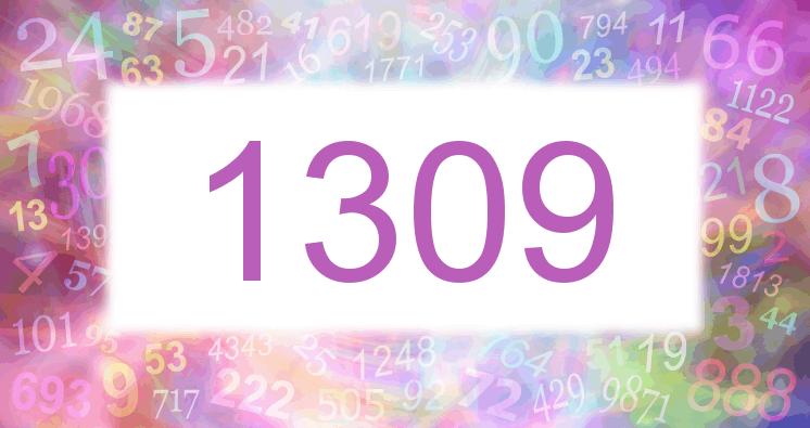 Sueño con el número 1309 imagen lila