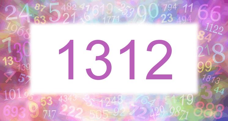 Sueño con el número 1312 imagen lila