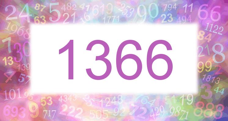 Sueño con el número 1366 imagen lila