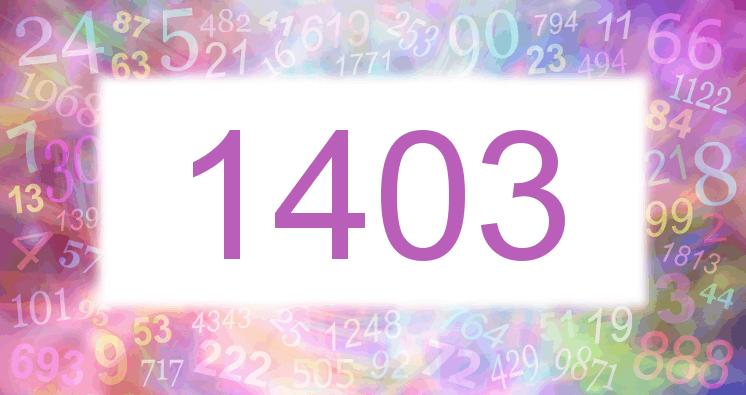 Sueño con el número 1403 imagen lila