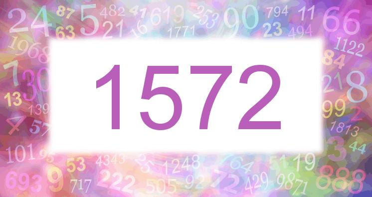 Sueño con el número 1572 imagen lila