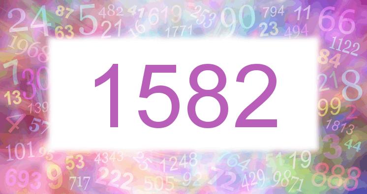 Sueño con el número 1582 imagen lila