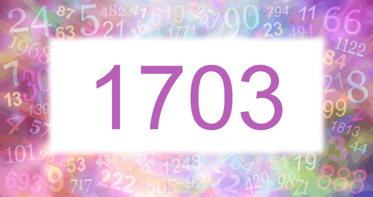Sueño con el número 1703 imagen lila