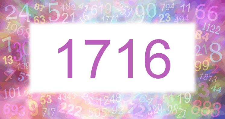Sueño con el número 1716 imagen lila