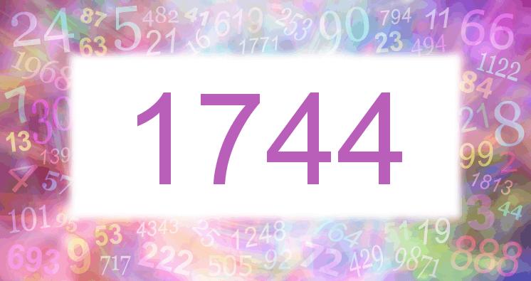 Sueño con el número 1744 imagen lila