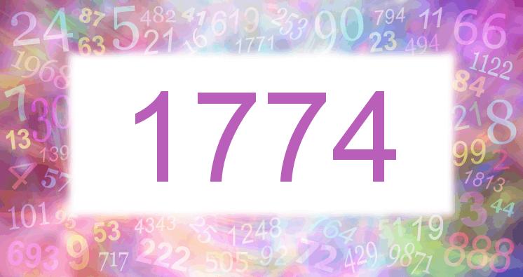 Sueño con el número 1774 imagen lila