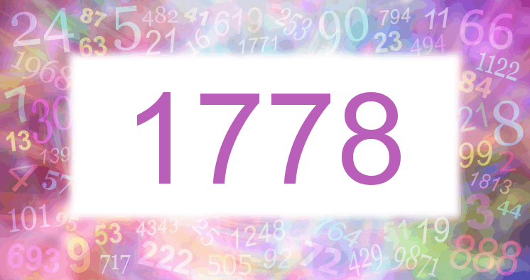 Sueño con el número 1778 imagen lila