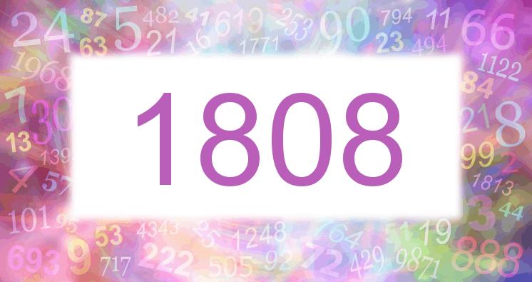 Sueño con el número 1808 imagen lila