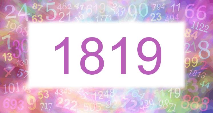 Sueño con el número 1819 imagen lila