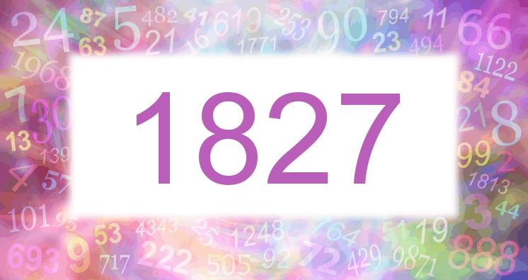Sueño con el número 1827 imagen lila