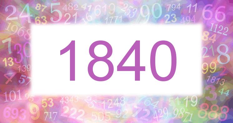Sueño con el número 1840 imagen lila