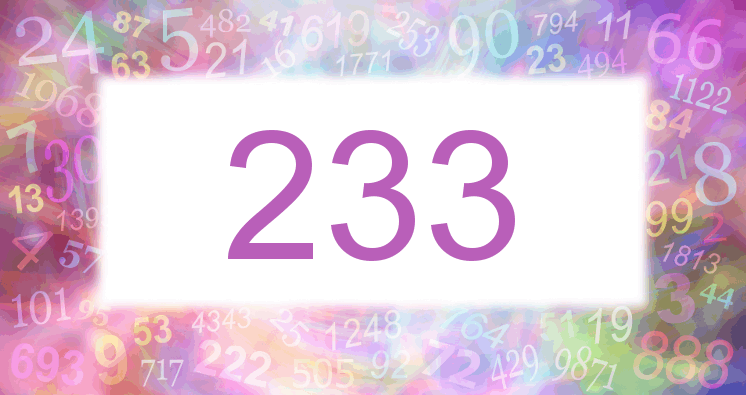 Sueño con el número 233 imagen lila