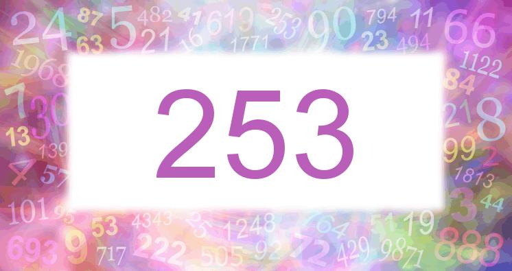 Sueño con el número 253 imagen lila