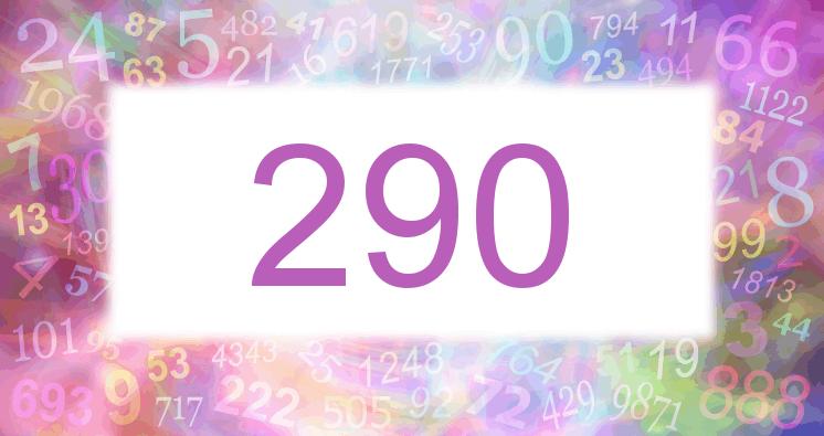 Sueño con el número 290 imagen lila