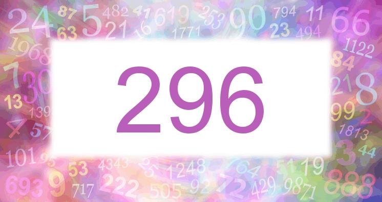 Sueño con el número 296 imagen lila