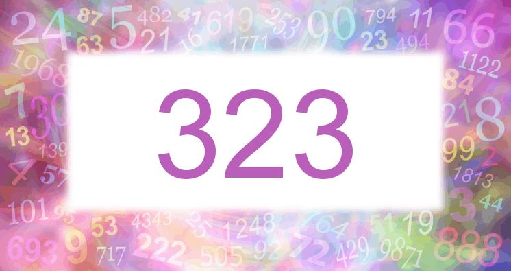 Sueño con el número 323 imagen lila