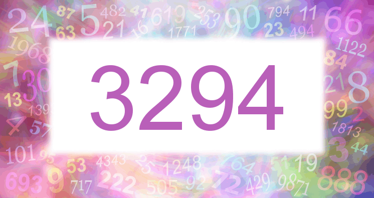 Sueño con el número 3294 imagen lila