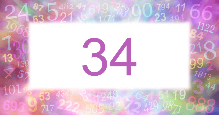 Sueño con el número 34 imagen lila