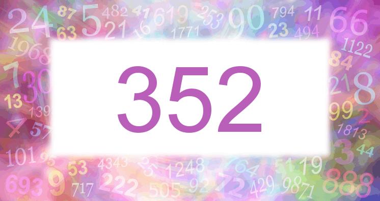 Sueño con el número 352 imagen lila