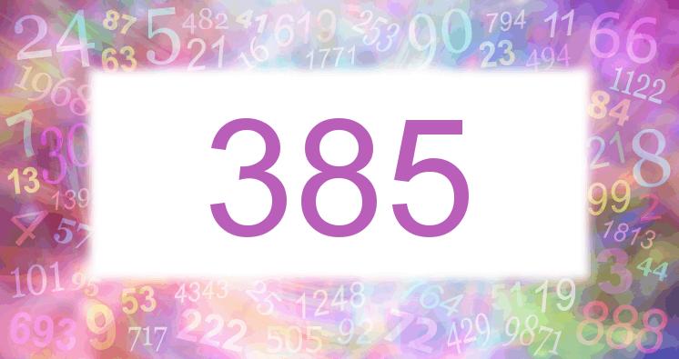 Sueño con el número 385 imagen lila