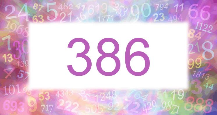Sueño con el número 386 imagen lila