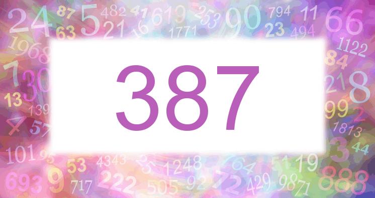 Sueño con el número 387 imagen lila