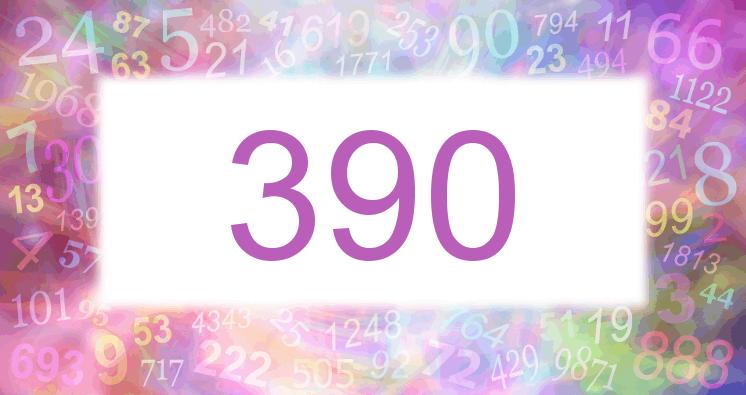 Sueño con el número 390 imagen lila