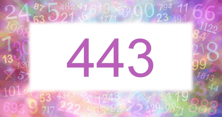Sueño con el número 443 imagen lila