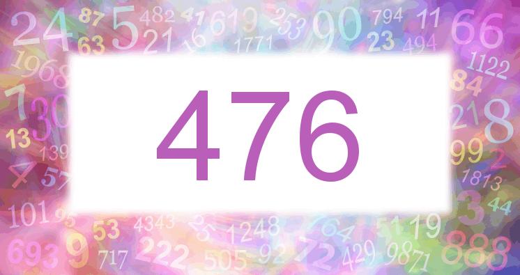 Sueño con el número 476 imagen lila