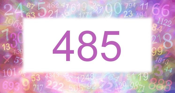 Sueño con el número 485 imagen lila