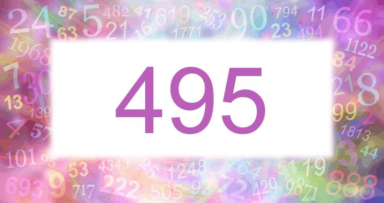 Sueño con el número 495 imagen lila