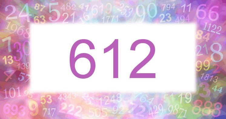 Sueño con el número 612 imagen lila