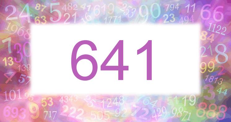 Sueño con el número 641 imagen lila